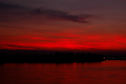 sunset sky nature landscape fluß organic evansville abendrot schön