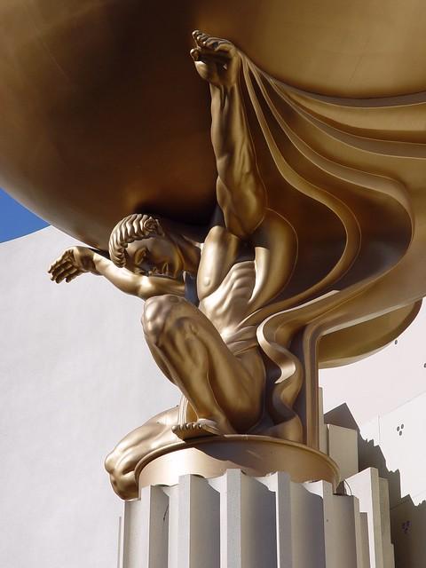Atlas statue mgm grand las vegas nv flickr photo for Garden statues las vegas nv