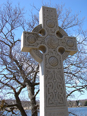 Celtic cross in the old Mystic cemetery