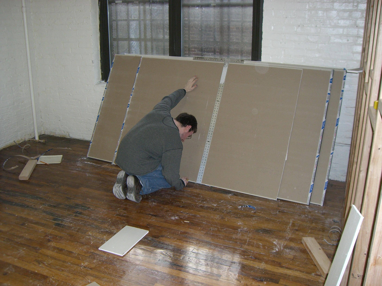 Cutting drywall image