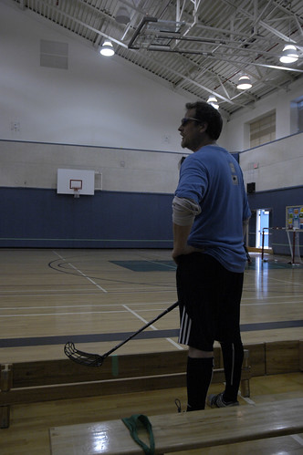 Greg Beaudin at the 1st Annual BC Floorball Federation Challenge