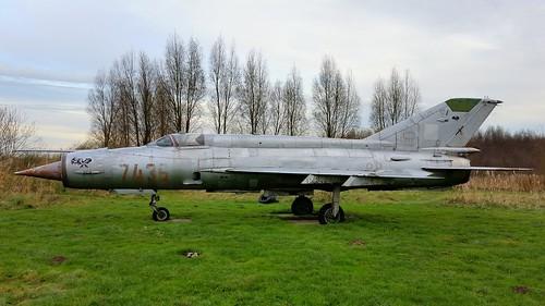 Mikoyan-Gurevich Mig.21MF c/n 96007436 Polish Air Force serial 7436 preserved in Kraggenburg, The Netherlands