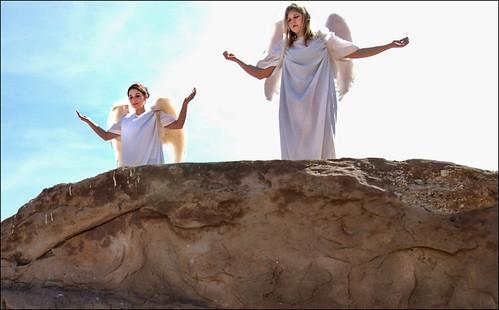 easter wings rehearsal angels sunriseservice aguadulce vasquezrocks
