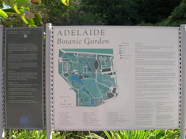 Header of Adelaide Botanic Garden