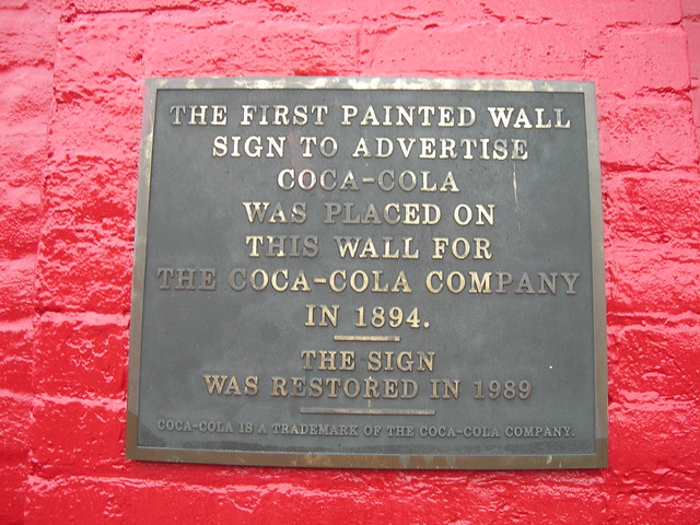 first coca cola wall ad plaque flickr photo sharing. Black Bedroom Furniture Sets. Home Design Ideas
