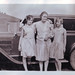 vintage: three ladies and an old car