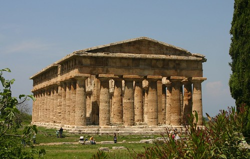 Paestum , Greek temple for Poseidon / Neptune