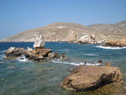 Koumbara beach, Ios