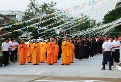 Monks at the Kong Meng San Phor Kark See Monastery in Singapore