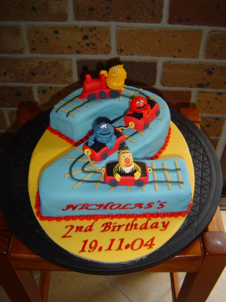 Sesame Street Characters 2nd Birthday Cake Chocolate Mudca Flickr