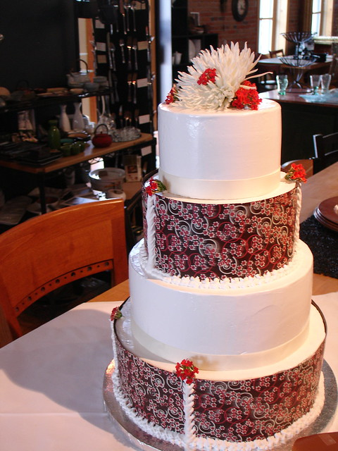 Spring wedding cake Carrie 39s entry for the Bozeman Bridal Walk