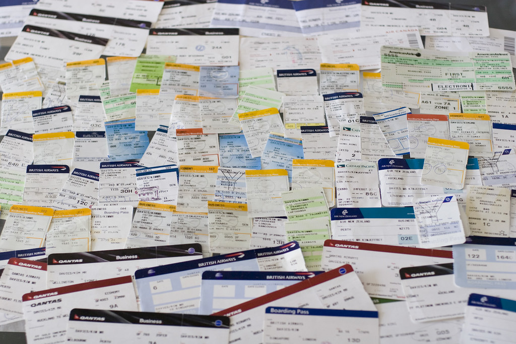 A year in boarding passes