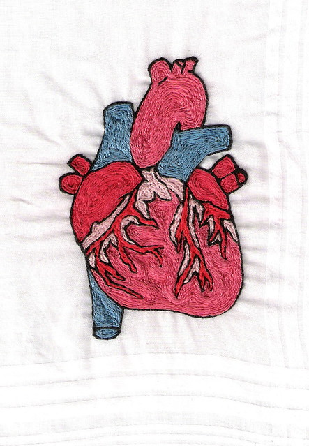 Anatomical Heart Hand Embroidery Front 070514  Flickr