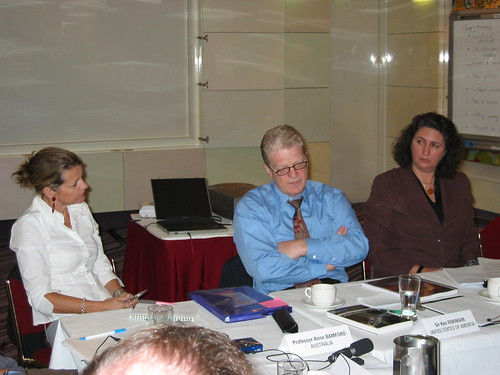 Professor Anne Bamford, Sir Ken Robinson and Karilyn Brown (Australia Council)