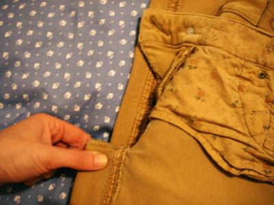 Como fazer barra de calça? passo #2