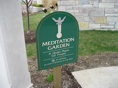 Meditation Garden, aka home for geese