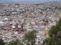 Zacatecas from above - on the hill 'La Bufa'