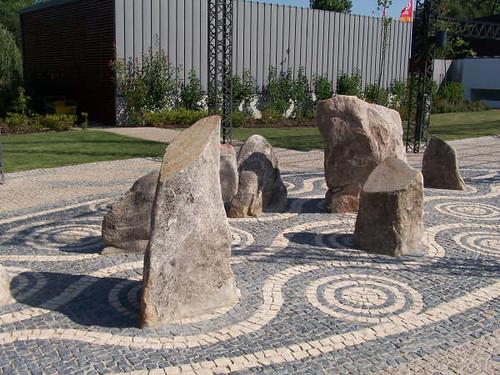 Detalle de ejemplo de diseño de jardines.