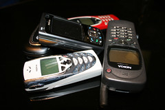 Mobile Phones Old and New