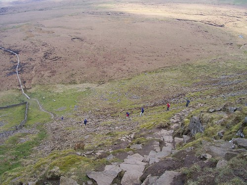 The long, steep descent of Ingleborough