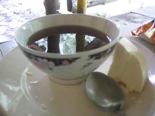 aguapanela con queso