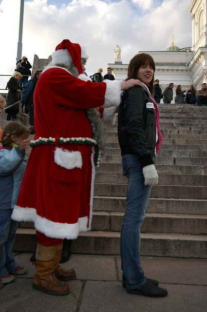 Santa Claus, Joulupukki, in Helsinki