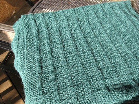 Free Knitting Pattern - Aran Honeycomb Stitch from the Stitches