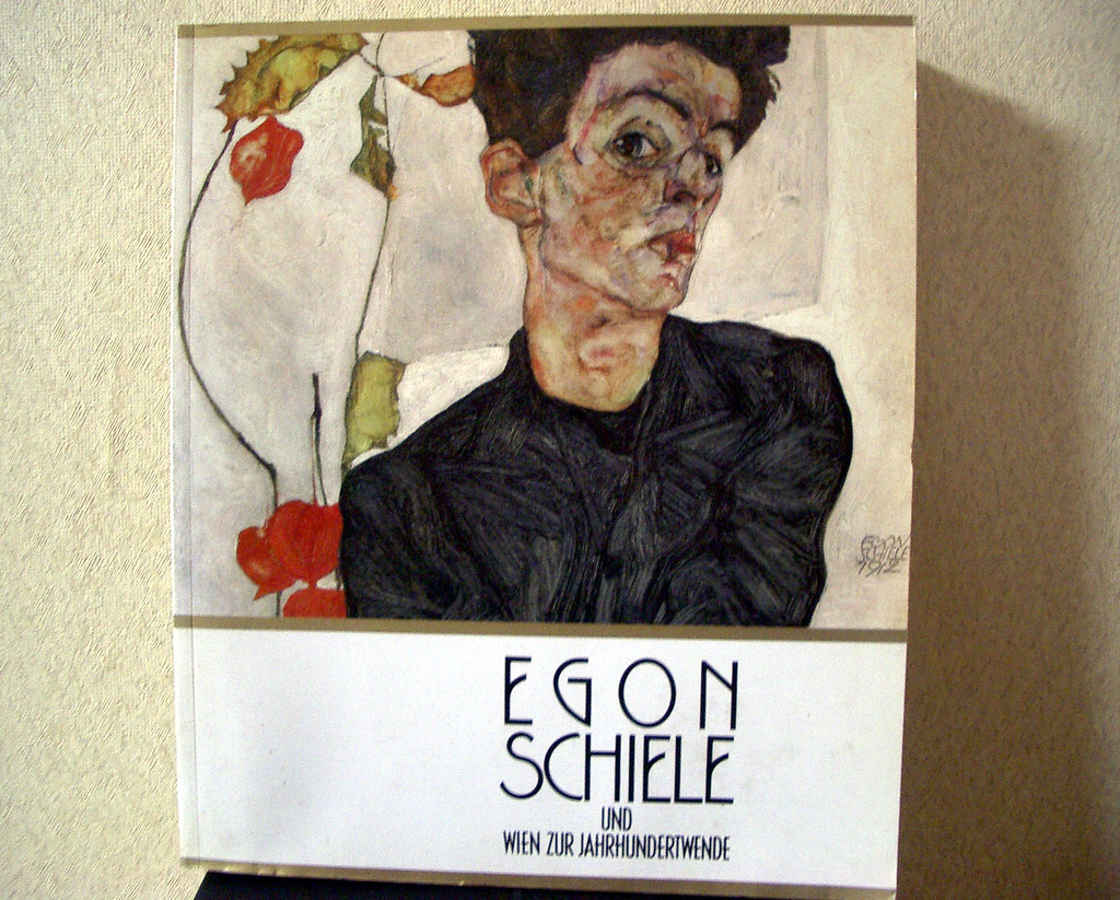 egon shiele from an exhibition catalogue