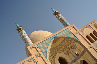 Image of  Agha Bozorg  near  Kāshān. iran perse persia kashan mosquée mosque religion god dieu islam musulman muslim aghabozorg