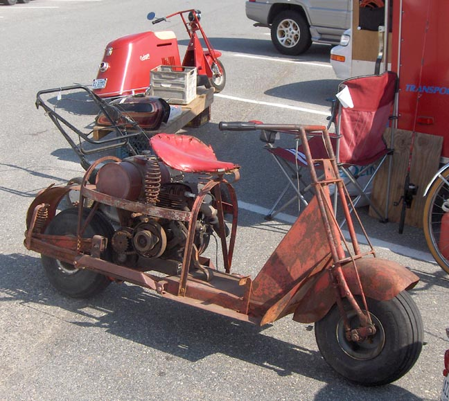 1959 Cushman Motor Scooter With A Side Car Picture