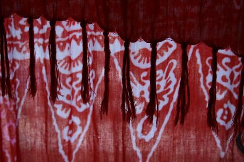 hawaiian print padeo used as a curtain | Flickr - Photo Sharing!