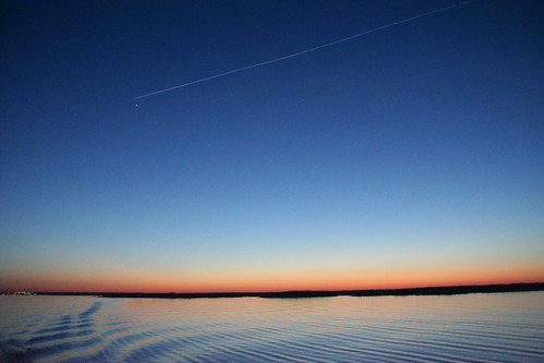 Nightfall over the Baltic Sea