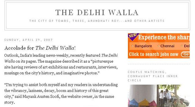 Accolade for The Delhi Walla!