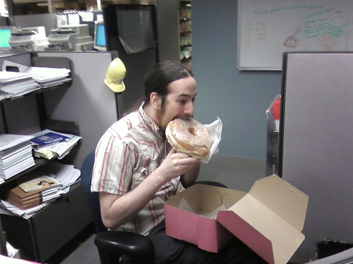josh vs. the Voodoo Doughnuts Tex-Ass glazed