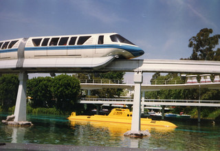 Monorail in Disneyland, California