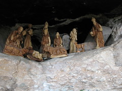 christmas decoration(0.0), ancient history(1.0), formation(1.0), cave(1.0), nativity scene(1.0),