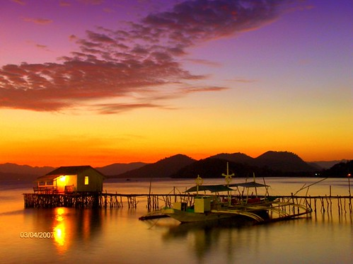 Sunset in Coron, Palawan Philippines