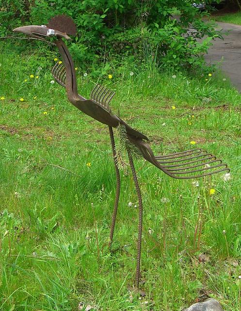 Homemade Yard Art Bird Flickr Photo Sharing