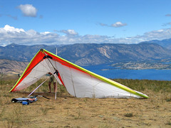 hang glider at Chelan Butte