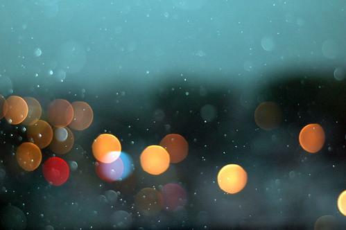 rain over street lights