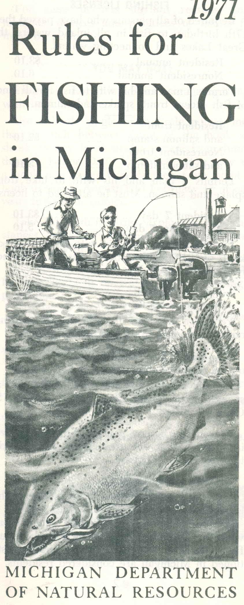 1971 michigan fishing license guide flickr photo sharing for Michigan fishing license online