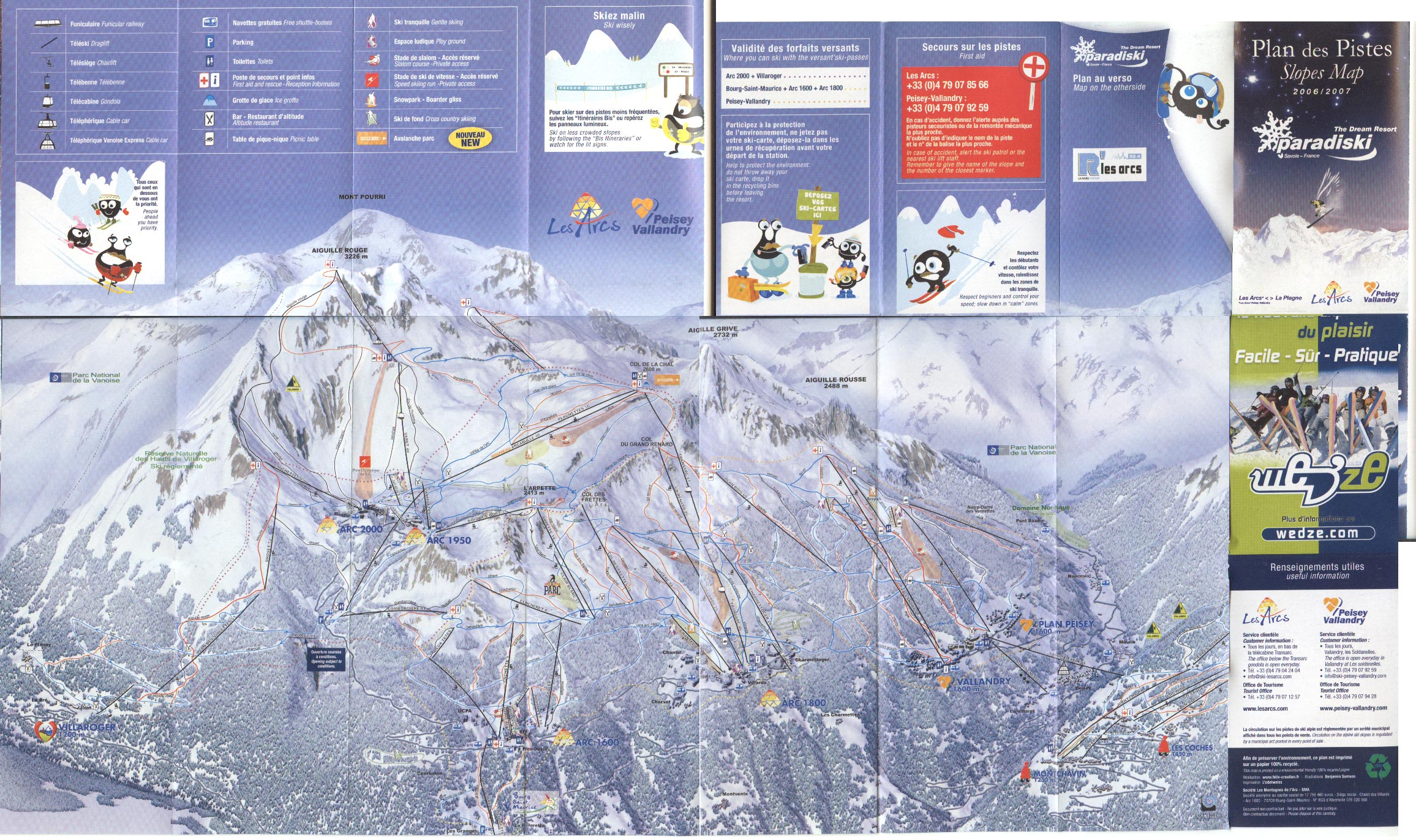les arcs piste map and mini review. Black Bedroom Furniture Sets. Home Design Ideas