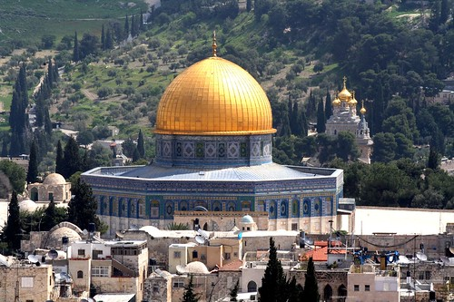 Jerusalem's Dome of the Rock as seen from David's Tower - The Citadel of David