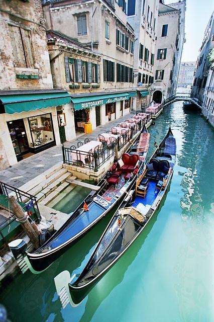 A pair of gondolas