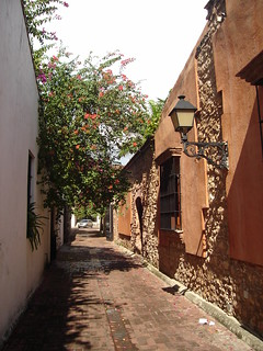 Santo Domingo, little street in the colonial town