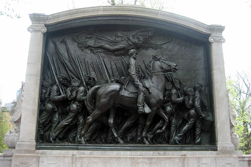 Shaw Memorial between Boston Common and the State House