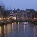 Dusk at the Amsterdam canals