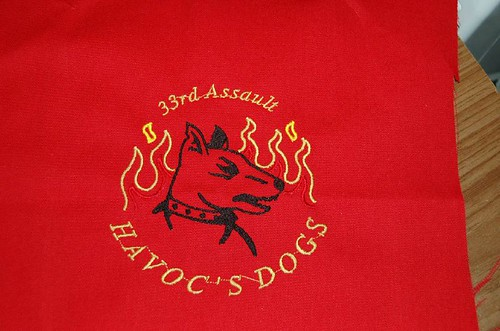 Close up of Havoc's Dogs sash