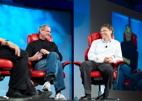Steve Jobs and Bill Gates - 無料写真検索fotoq