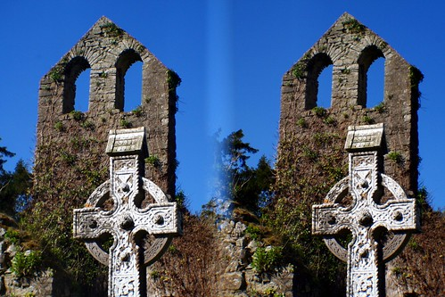 ireland irish stereoscopic stereogram stereophoto stereophotography 3d high cross stereo stereograph parallel loreo